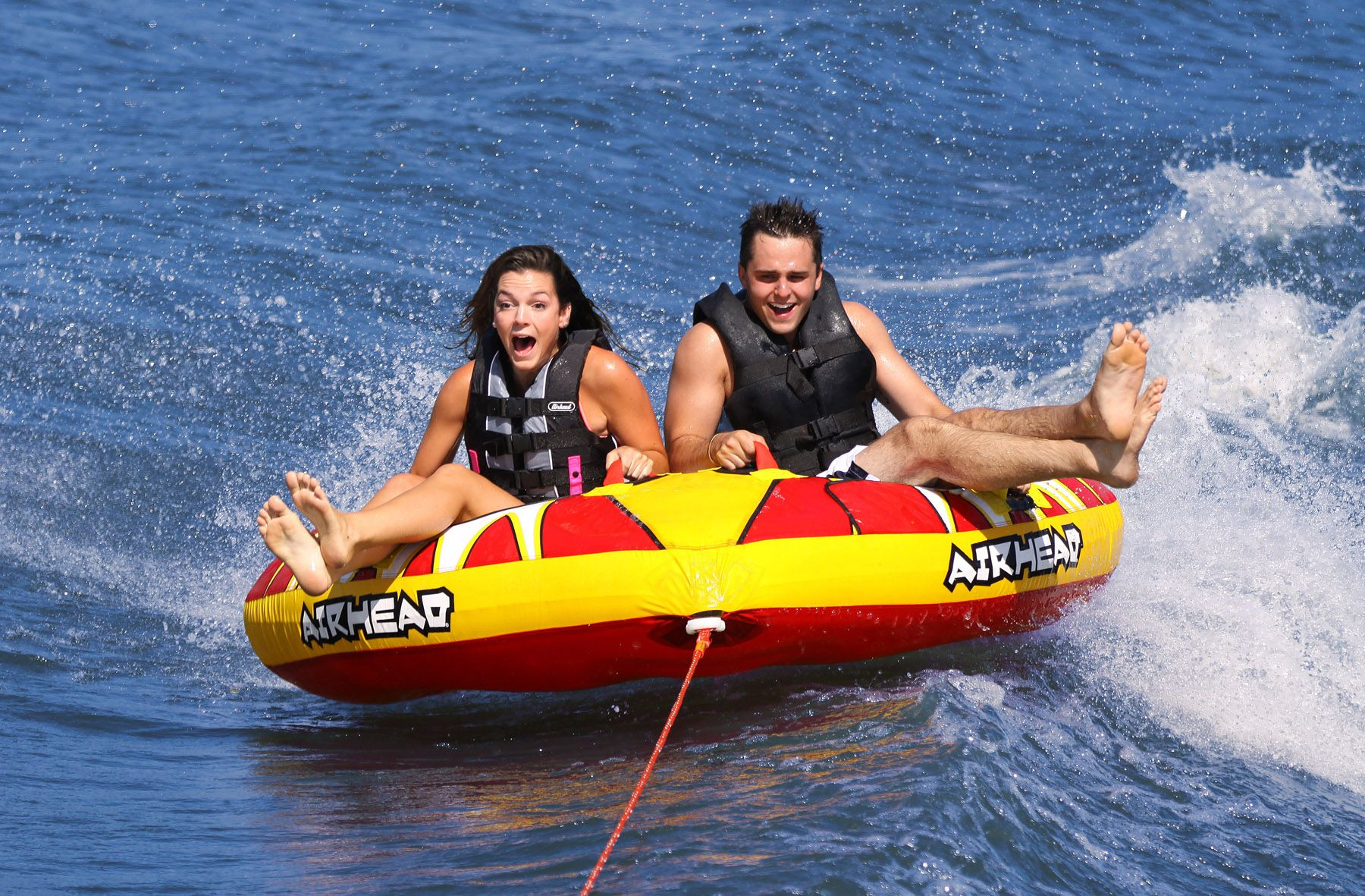 Airhead Blast Rider 2 Donut Inflatable Towable Fun 90 Tow Harness For Towables