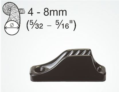 Clamcleat Open Cleat 74mm Midi CL209 4-8mm Rope