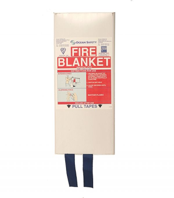 Marine Fire Blanket by Ocean Safety 1.8m x 1.2m MCA