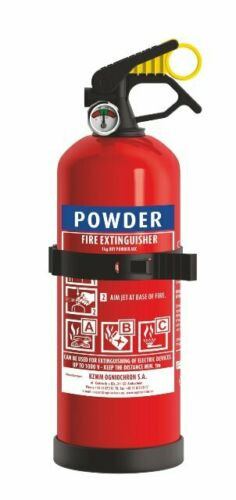 Powder Fire Extinguisher 1KG - Ideal for Boats Cars