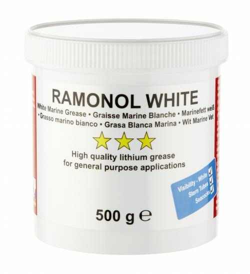Ramonol White Lithium Water Resistant Marine Grease 500g Boats Shaft Bearings Wheel Bearings