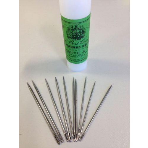 Sail Makers Sewing Needles- Ass Tube of 10 Sail Cover Tent Repairs