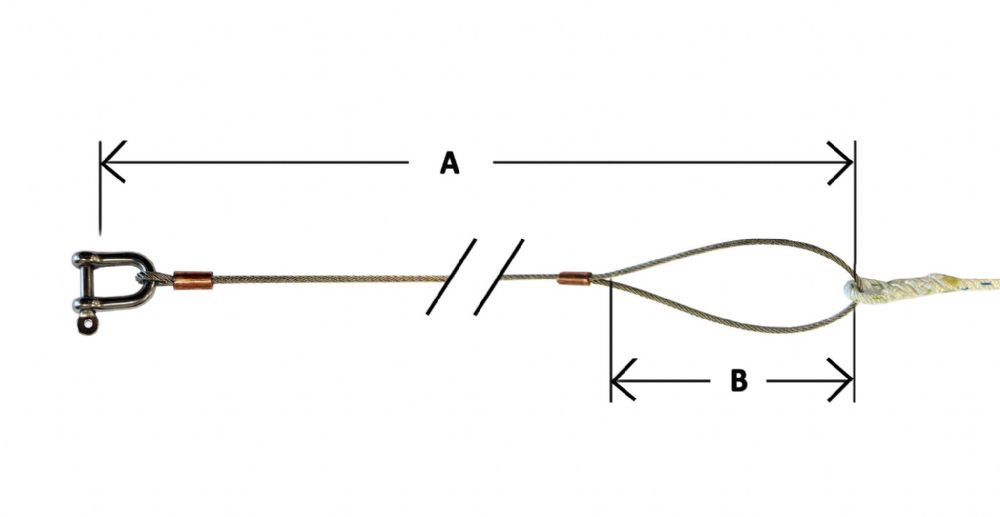 solo wire main halyard spliced to 3 strand rope and 5mm