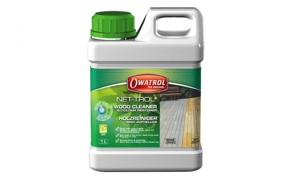 Wood and Deck Cleaner NET-TROL by Owatrol Colour Restorer 1Ltr
